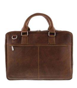 """Plevier Urban 485 17.3"""" business tas cognac"""