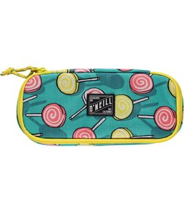 O'Neill Box pencil case green aop w/yellow