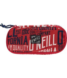 O'Neill Box pencil case red aop w/white