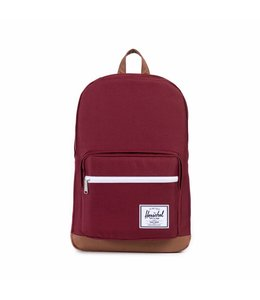 Herschel Pop Quiz windsor wine/tan synthetic leather