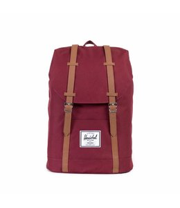 Herschel Retreat windsor wine/tan synthetic leather