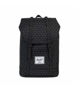 Herschel Retreat black gridlock/black rubber
