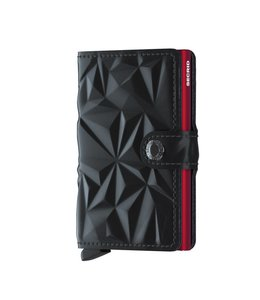 Secrid Miniwallet Prism black red