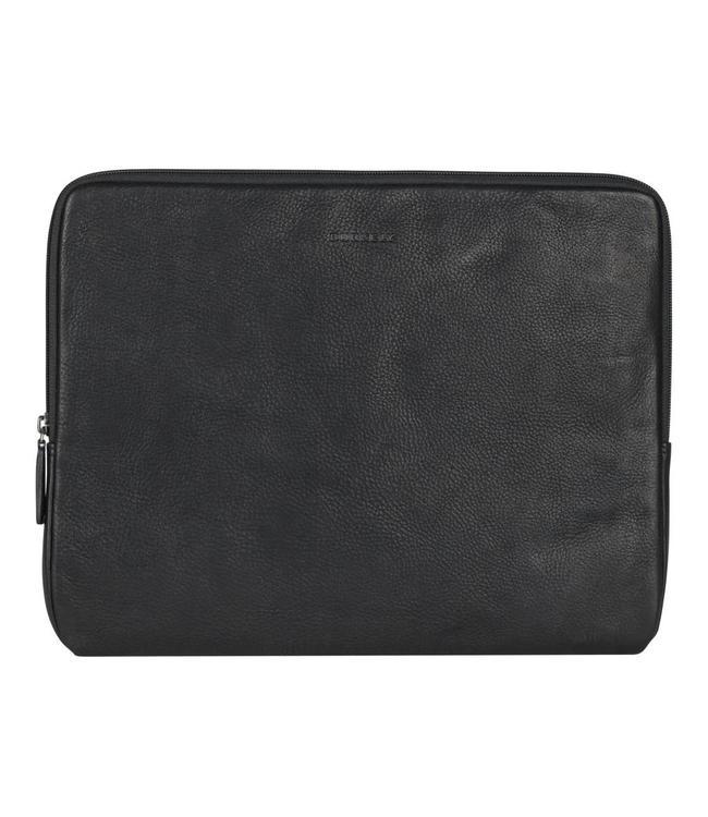 "Burkely Antique Avery 14"" laptop sleeve zwart"