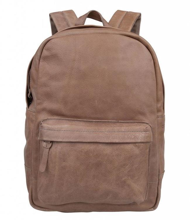"""Cowboysbag Bag Brecon elephant grey-leren 15.6"""" laptop rugzak"""