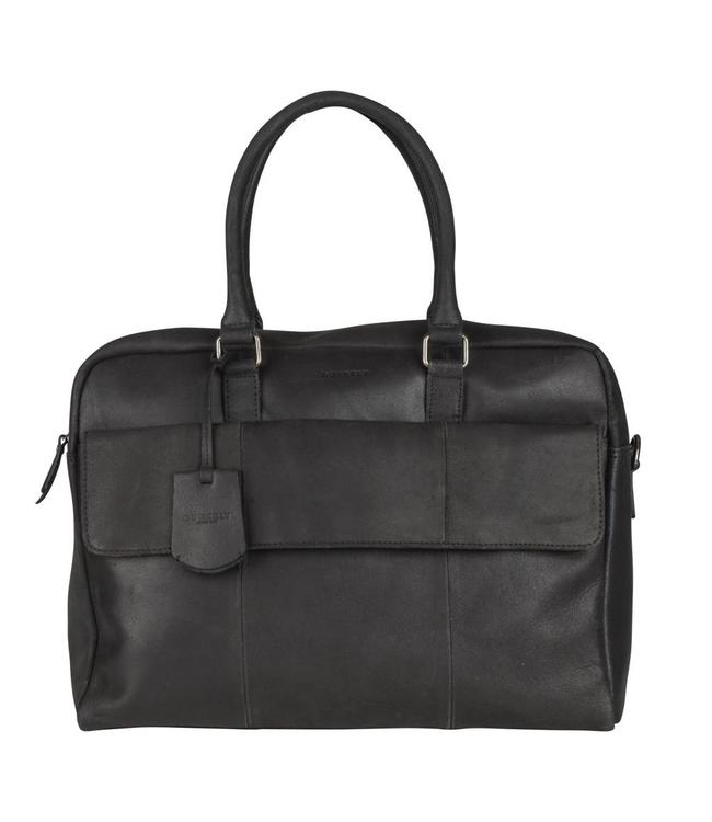 Burkely On the move laptopbag flap zwart-Gratis Powerbank