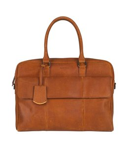 Burkely On the move laptopbag flap cognac