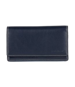 Burkely Multicolour wallet flap over 3 blue