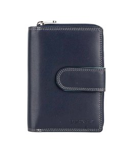 Burkely Multicolour wallet loop zip blauw