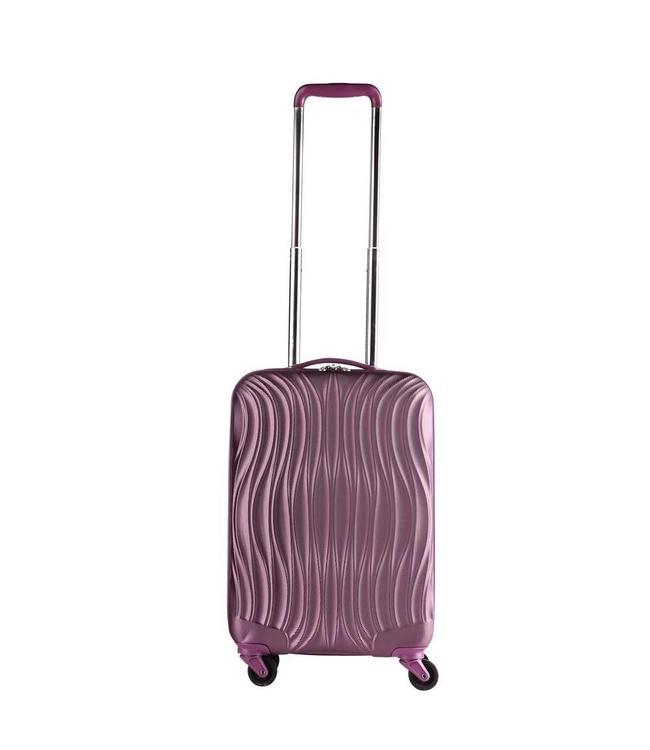 CarryOn Wave 54cm aubergine-handbagage koffer met 4 wielen