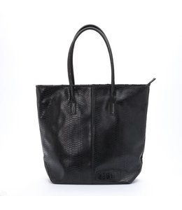 Zebra Trends Natural bag kartel met rits black croco