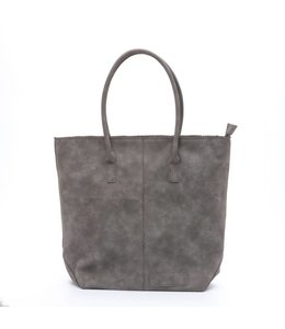 Zebra Trends Natural bag kartel met rits dark grey