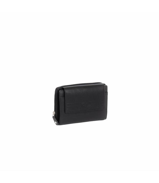 Chesterfield Ascot ritsportemonnee zwart-ruime portemonnee met veel vakken