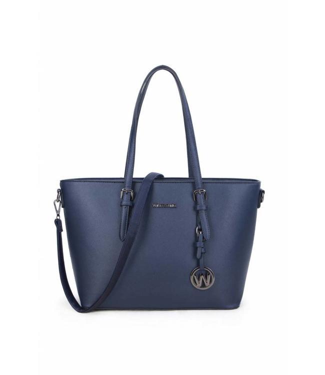 Wimona Kyara donker blauw-trendy dames shopper