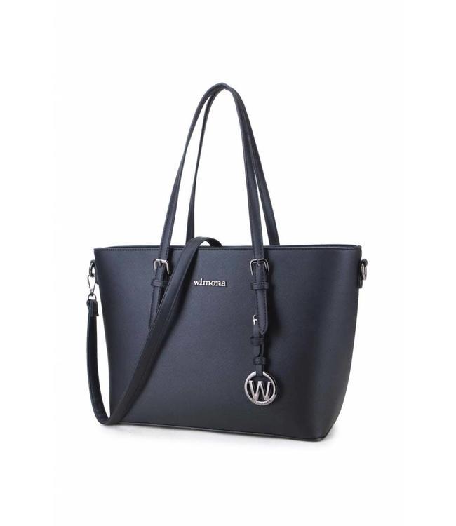 Wimona Kyara zwart-trendy dames shopper
