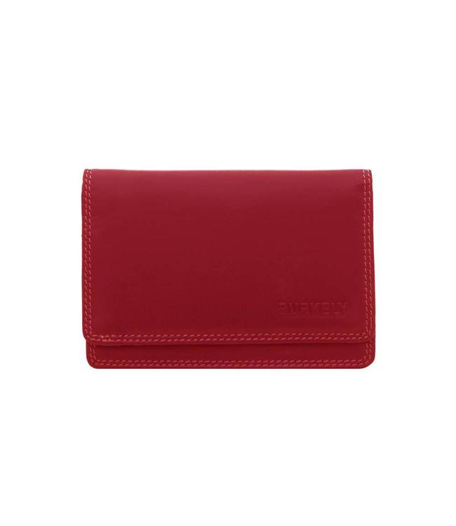 Burkely Multicolor Portemonnee red