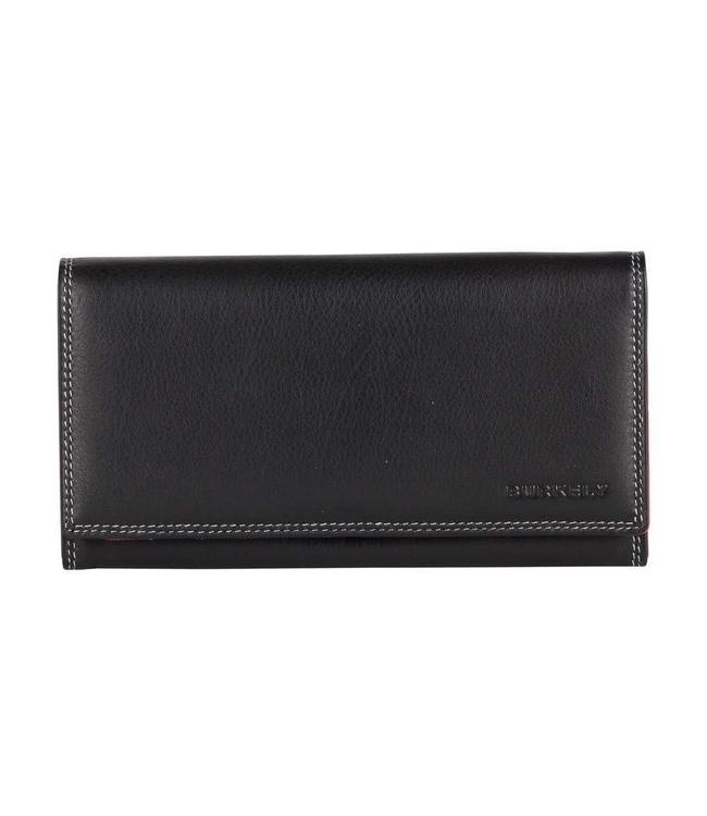 Burkely Multicolor wallet flap over 2c zwart