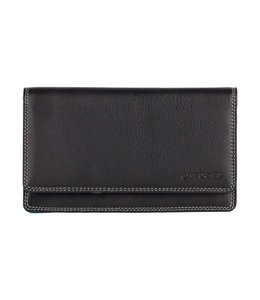 Burkely Multicolor wallet flap over 3c zwart