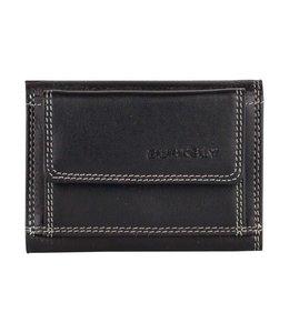Burkely Multicolor wallet frontpocket zwart
