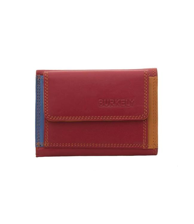 Burkely Multicolor wallet frontpocket rood
