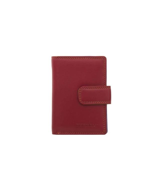 Burkely Multicolor cc holder loop flap red multi