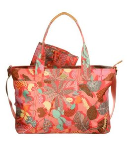 Oilily Botanic Pop Diaper Bag Pink Flamingo