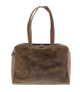 "Plevier Pure 14"" dames laptoptas taupe"