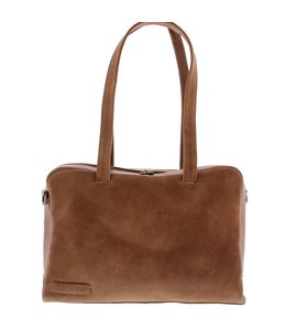 "Plevier Pure 14"" dames laptoptas cognac"