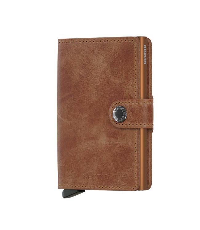 Secrid Miniwallet Vintage cognac rust-pasjeshouder RFID beschermd