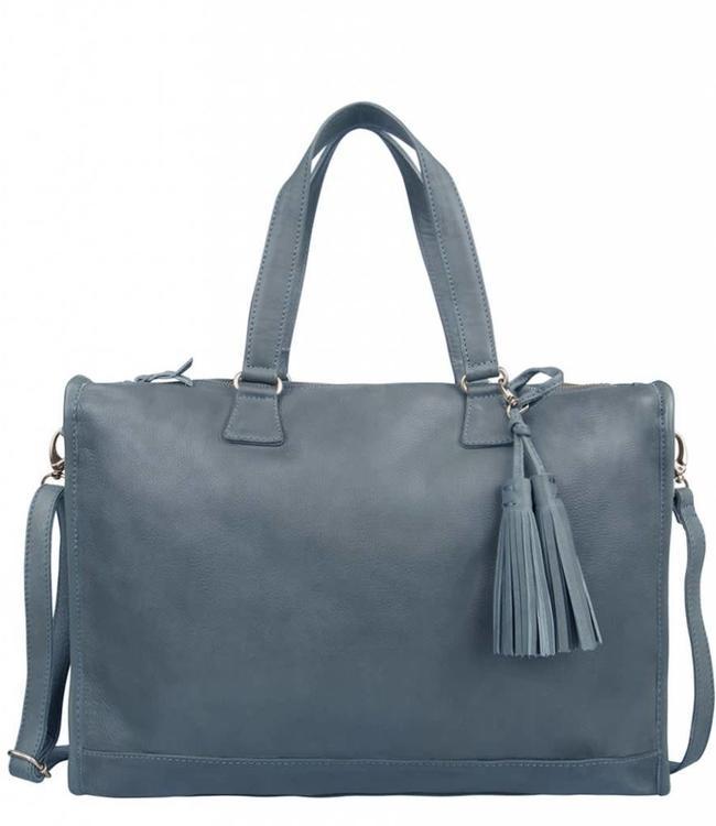 """Cowboysbag bag Hatfield jeans blue-dames werktas met 15.6"""" laptopvak"""