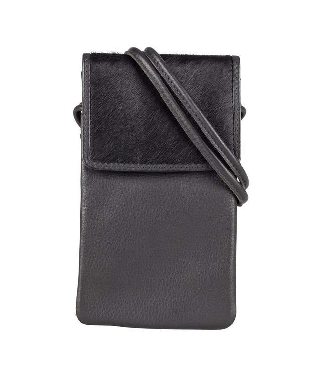 Burkely Evening mini bag with giftbox zwart-leren avondtasje