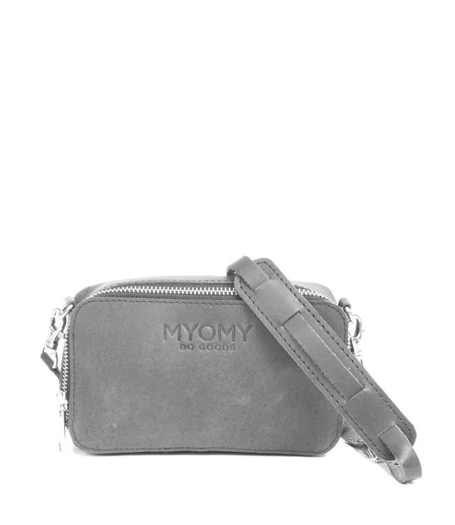 MYOMY Black Bag Boxy schoudertasje elephant grey