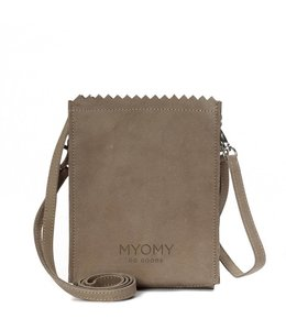 MYOMY My Paperbag Baggy schoudertasje taupe