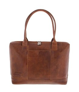 "Plevier Dames business laptoptas 15.6"" cognac"