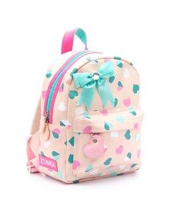 Zebra Trends Girls rugzakje hearts pink
