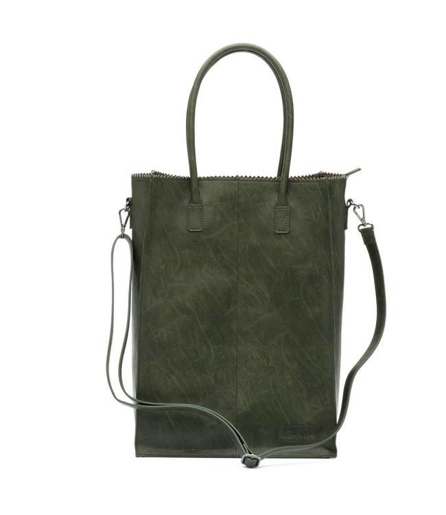 Zebra Trends Natural bag Rosa XL army green-ruime shopper