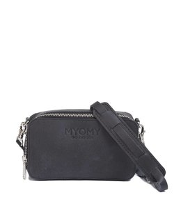 MYOMY Black Bag Boxy schoudertasje off black