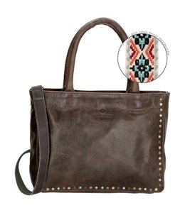 Micmacbags New Navajo leren handtas 16833 grey