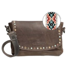Micmacbags New Navajo leren kleptas 16836 grey