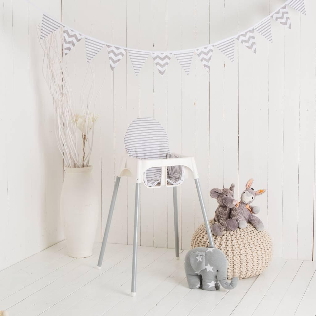 sitzkissen chevron streifen f r ikea antilop hochstuhl u v. Black Bedroom Furniture Sets. Home Design Ideas
