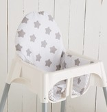 "Highchair cushion ""stars white/ little dots"" for IKEA Antilop"
