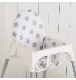 "Highchair cushion ""stars white/little dots"""