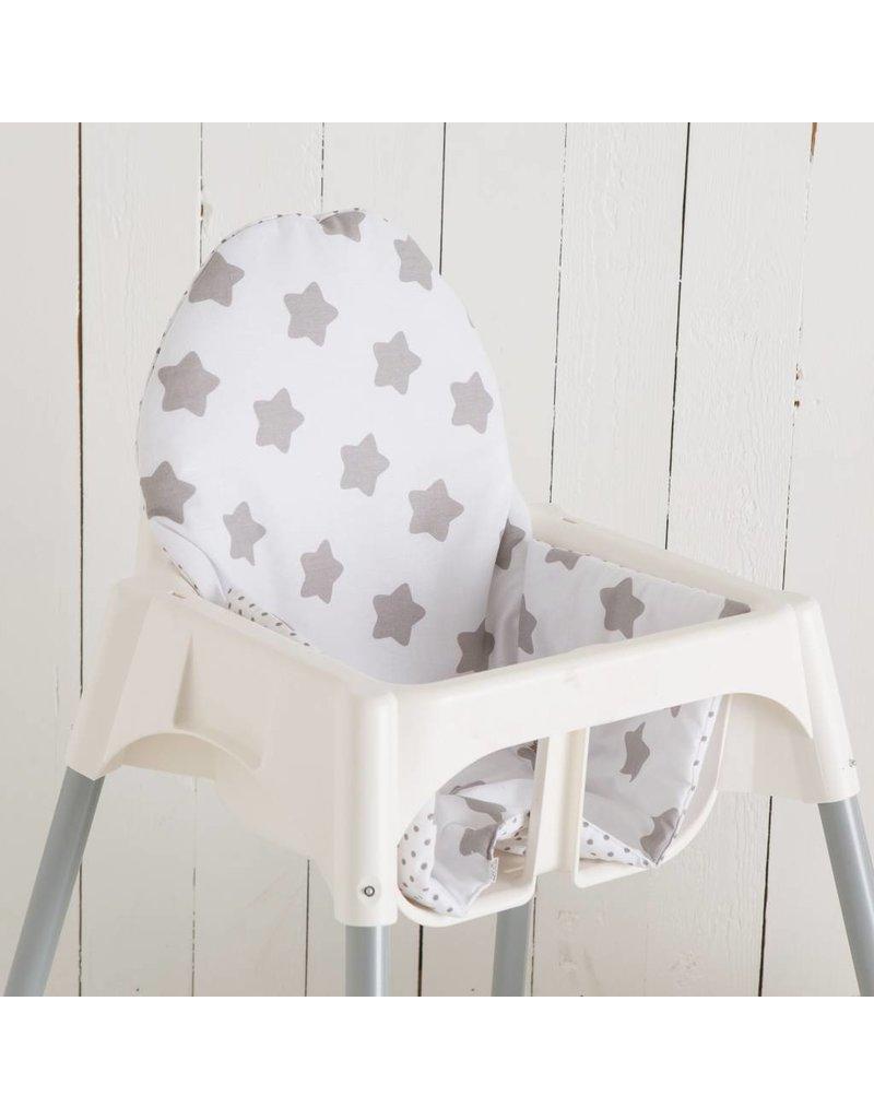 """Sitzkissen """"Sterne weiß/ Pünktchen"""" für Ikea Antilop"""