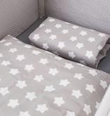 Bettwäsche Sterne/Punkte grau, 100x135cm