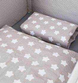 Bettwäsche Sterne/Punkte grau