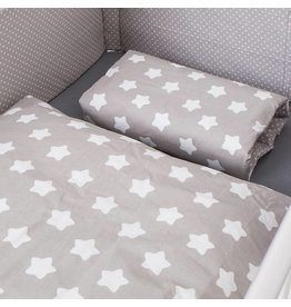 "Bed Linen ""Stars/ Dots grey"""