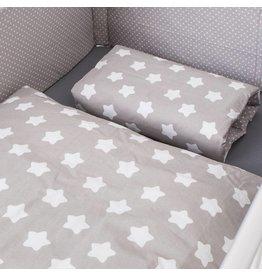 """Linge de lit """"Étoiles/Points gris"""""""