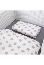"Bed Linen ""stars/ dots white"", 100x135cm"