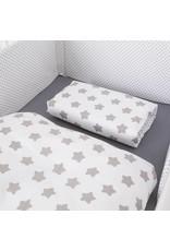 Bettwäsche Sterne/Punkte weiß, 100x135cm