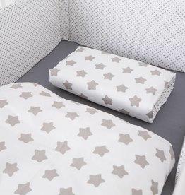 Bettwäsche Sterne/Punkte weiß